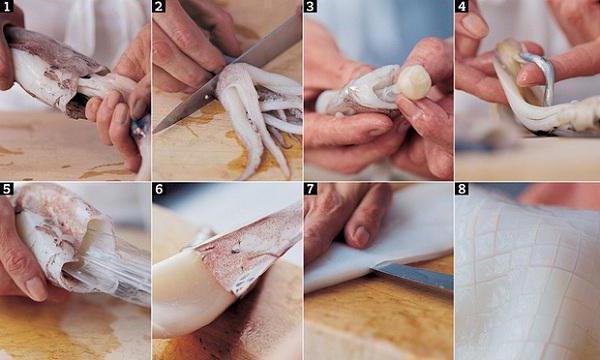 Как чистить кальмаров и сколько варить, как быстро почистить их от пленки, видео