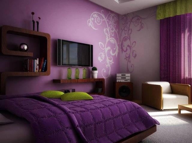 Сиреневые обои: для стен в интерьере, цвета и фото, с каким сочетаются, бледные тона, какой диван подойдет