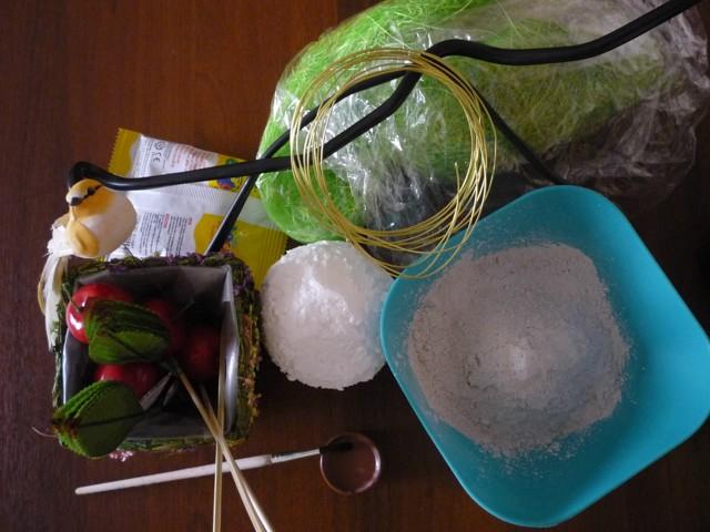 Топиарий из сизаля: фото своими руками, мастер клас как сделать шарики, из сизалевых цветов как сделать,мк, видео, елочка
