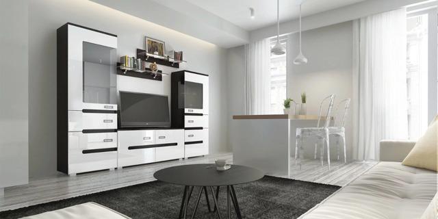 Модульная мебель для гостиной: корпусная угловая, фото мягких систем, белый глянец для зала, светлая от производителя