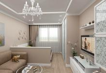 Гостиная-спальня 18 квадратов дизайн фото: интерьер комнаты зала, планировка и проект, совмещение с гардеробной