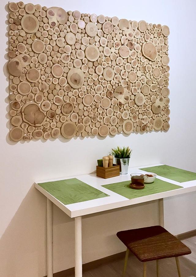 Панно из дерева: деревянное на стену в интерьере, их спила, резьба ручной работы, из монет для бани, заготовка декоративная, бамбуковое фото