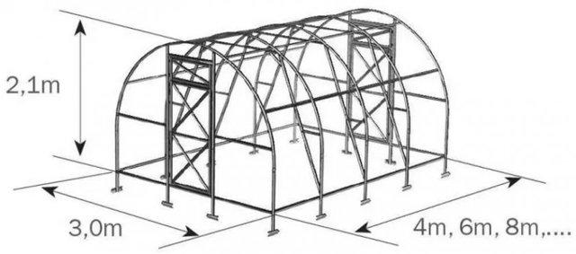 Теплица Дачная: Двушка и Трешка, эко-сборка и отзывы 2Д, усиленная 6 метров, как собрать и Оптима правильная