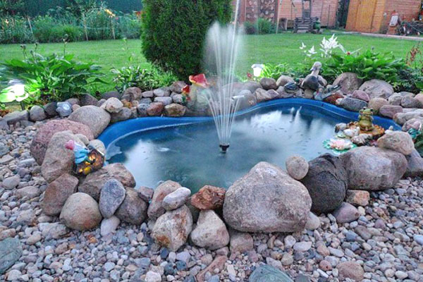 Насос для фонтана: своими руками, погружная помпа
