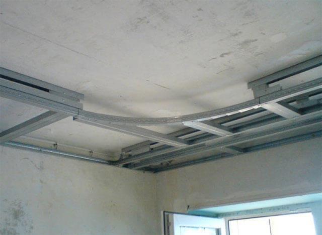 Каркас для пластикового потолка: подшивной двухуровневый, обрешетка двойного и крепление направляющих, как правильно сделать своими руками, установка