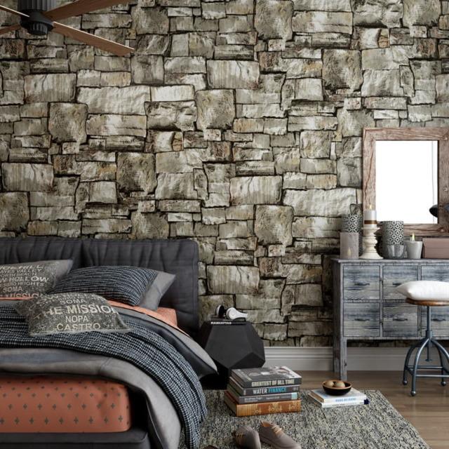 Обои под кирпич: кладка стен, белый интерьер, фото и виды, имитация под покраску, рисунок на кухне, виниловые
