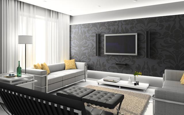 Обои для зала фото: на стены, в квартире ремонт, как поклеить красиво, флизелиновые для маленького дома