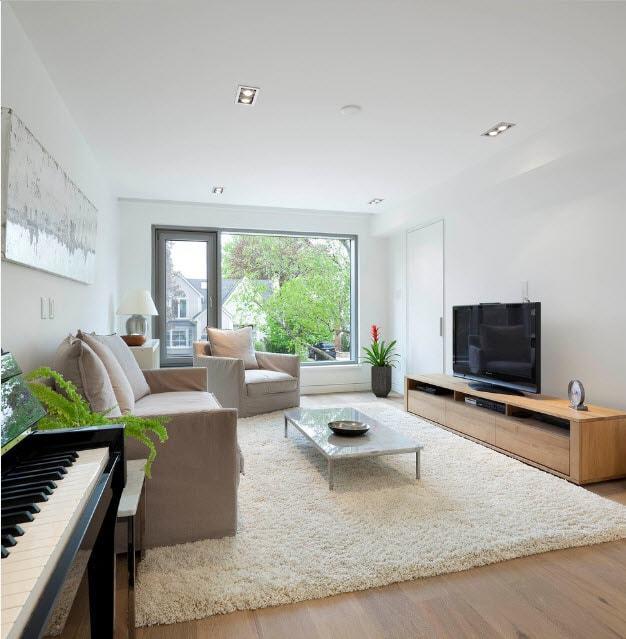 Мебель под телевизор в гостиную: ТВ и фото, без места для полки, мини-консоль и модули, современные квартиры