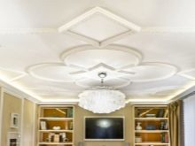 Оформление потолка: фото вариантов в квартире, простыми молдингами и лентами, как красиво своими руками бамбуком