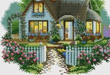 Вышивка крестом схемы домов: исполнение желаний, бесплатно с новым годом, пряничный и кукольный, набор мечта
