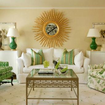 Зеленые шторы: фото интерьера кухни, гостиная в салатовых тонах, оливковый и фисташковый цвет, изумрудный