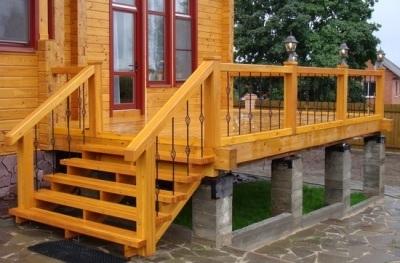 Деревянная лестница для дома: для дачи из дерева, чем покрыть, фото входных из бруса, каким лаком, простые и красивые в коттедже