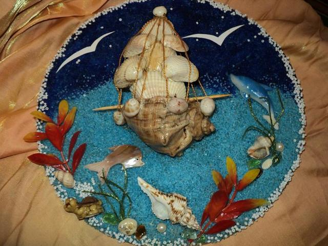 Панно из ракушек: как сделать своими руками, фото, мастер-класс для начинающих, картина корабль