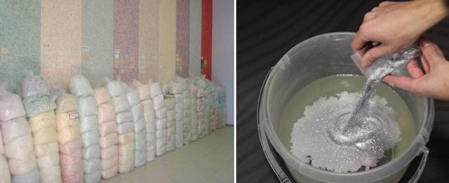 Жидкие обои расход одной упаковки: на 1 кв м, 1 кг на сколько квадратов, как рассчитать на комнату, на метр