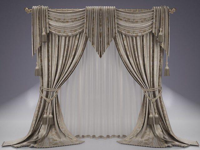 Французские шторы фото: тюль Маркиза и театральный