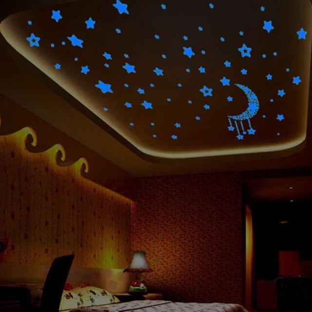 Наклейки на потолок: виниловые и декоративные, фото светящихся и фосфорных