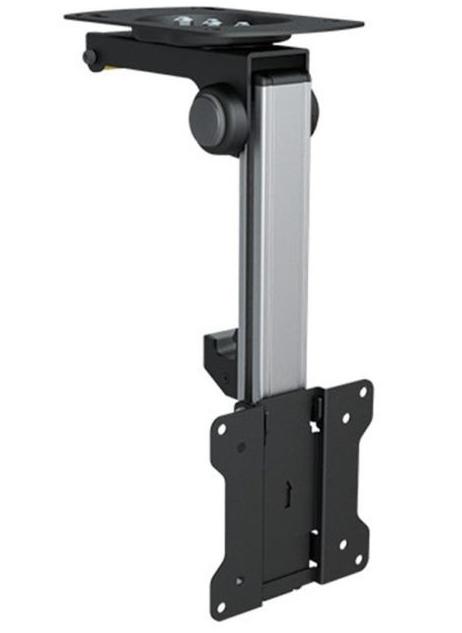 Кронштейн для телевизора на потолок поворотный выдвижной: крепление с телескопической штангой, фото и видео монтажа