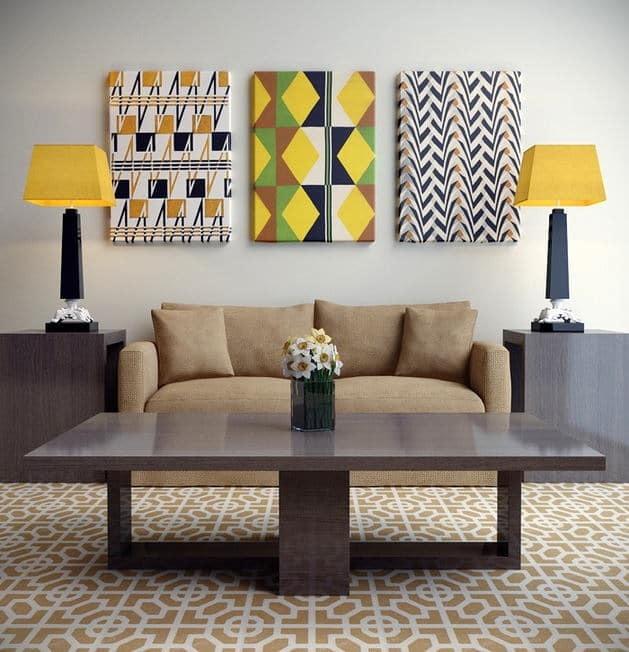 Обои картины на стены: модульные своими руками, фото в интерьере, из жидких, как сделать из остатков
