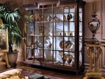 Витрины для гостиной: для посуды шкаф стеклянный, классика из Малайзии, мебель стильная, комод белый и розовый