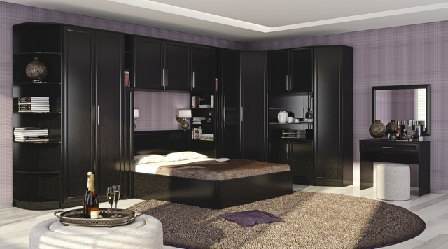 Стенка в спальню: недорогая и стильная горка, современная модульная, фото угловой мебели, виды мини-стенок