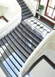 Плитки для лестницы: керамические ступени в доме, облицовка внутри, фото отделки подступенек клинкерной и тротуарной
