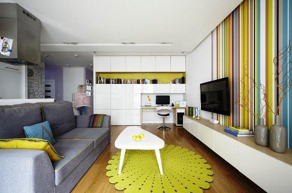 Обои в полоску: полосатые в интерьере, для стен в клетку, фото, вертикальная и горизонтальная, широкая черная