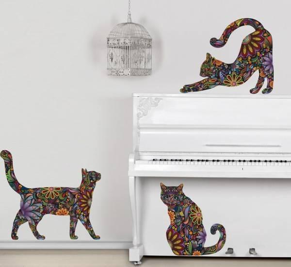 Наклейки на обои: декор стен, фото, декоративные принты, виниловые для детской комнаты, большие на основе