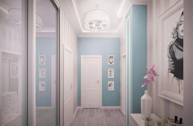 Комбинирование обоев в прихожей фото идеи: для коридора дизайн, как скомбинировать в квартире, можно поклеить