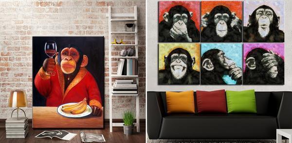 Панно обезьяна: своими руками из природного материала