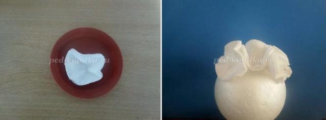 Топиарии из ватных дисков: своими руками, мастер-класс пошагово