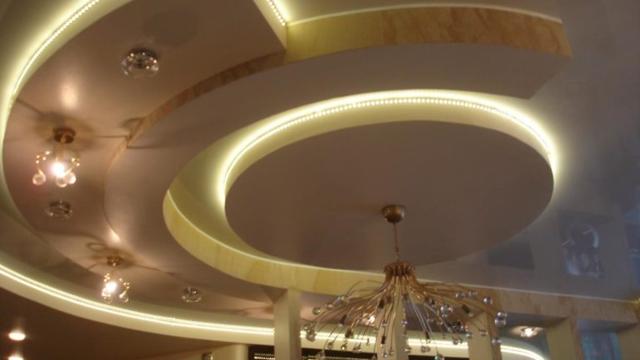Многоуровневый потолок из гипсокартона с подсветкой фото: парящий трехуровневый своими руками, многоярусный и разноуровневый как сделать, конструкция и монтаж