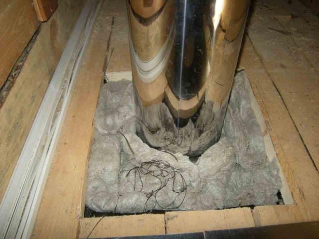 Проход трубы дымохода через потолок: как установить и закрепить газовую, монтаж и разделка печной и воздуховода, крепление гофры и канализационных