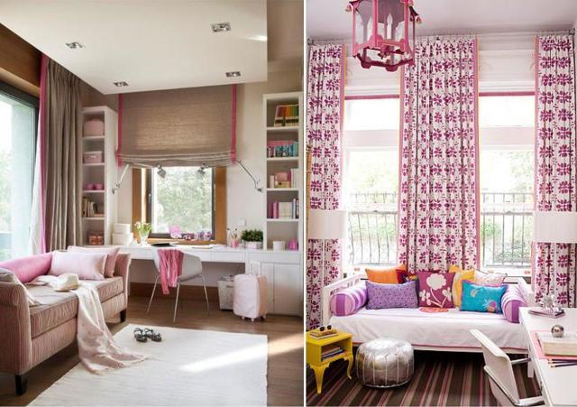 Римские шторы в детскую: фото комнаты, для девочки и мальчика, интерьер