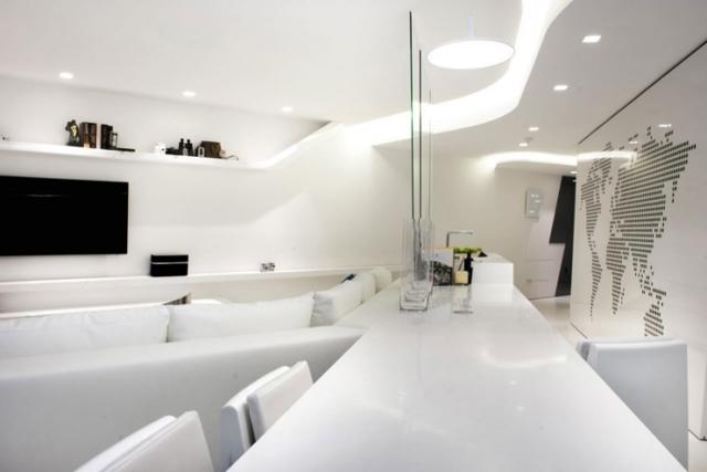 Современные натяжные потолки в дизайне интерьера