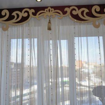 Ламбрекены для спальни: фото ламбрекенчика, каталог штор, дизайн занавесок