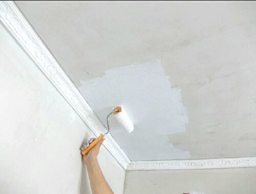 Побелка потолка: как побелить по старой и чем в квартире, отделка самостоятельно, фото, видео