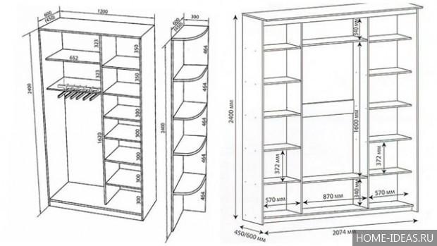 Шкаф-купе в прихожую своими руками фото: проекты и схемы, сделать в коридор, чертежи с описанием, видео