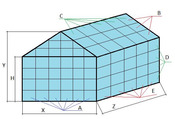 Чертеж теплицы: парник и размеры Федорова, своими руками расчет, онлайн калькулятор, из уголка как рассчитать