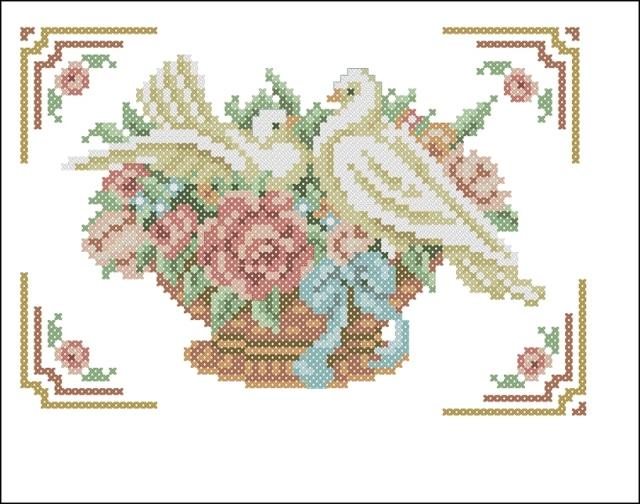 Схема вышивки крестом сердца: сердечки как вышивать крестиком, вышитый вальс и наборы, меланжевые цветы
