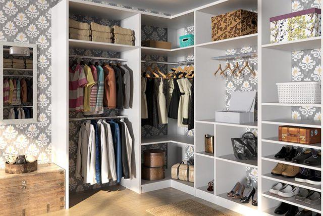 Системы хранения вещей для гардеробной конструктор: Икеа и Леруа Мерлен, своими руками для обуви, фото одежды