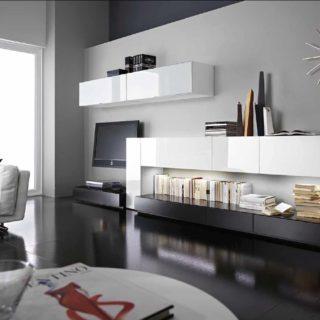 Модульные гостиные: угловые системы, фото, белый глянец, стильные элементы 2020, зал из МДФ, светлые комнаты