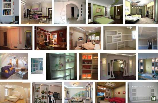 Изделия из гипсокартона: мебель и что можно сделать своими руками, идеи и стол, кровати фото, на стене встроенная
