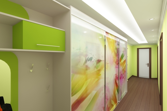 Мебель прихожая в длинный узкий коридор: фото дизайна в квартире, самый длинный ремонт, идеи для трех комнат