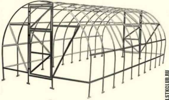 Парник стальной: металлические теплицы из металла, своими руками сварные, из поликарбоната металлоконструкции