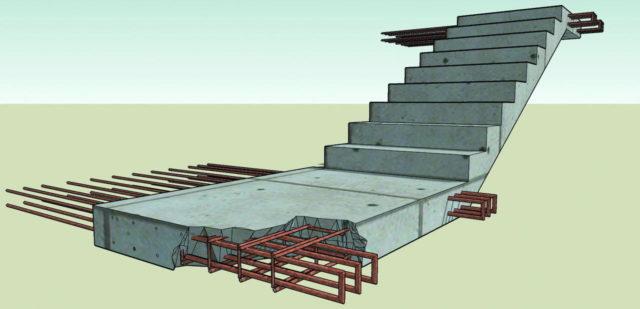 Монолитная лестница: изготовление и армирование сборных своими руками, отделка устройства деревом, расчет строительства наружной, фото как сделать узел
