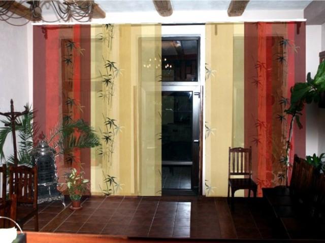 Японские шторы: фото в интерьере, стильные панели, как крепятся в гостиной, описание экранных занавесок