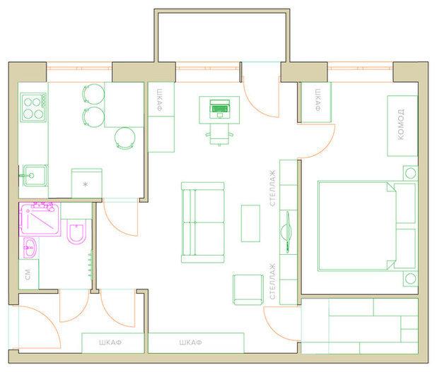Спальня-гостиная: фото как сделать из комнаты, оформление в хрущевке и на мансарде, решение создать, двери 2 в 1
