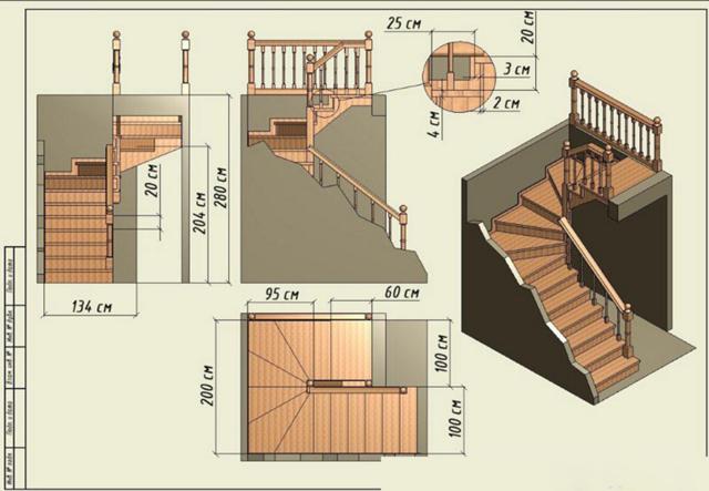 Лестницы в коттеджах: на второй этаж, фото и красивый дизайн домов, разрез и ширина входной, наружная своими руками
