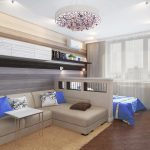 Дизайн спальни-зала фото: в одной комнате две, интерьер как сделать в квартире, совмещенный дом и гостиная