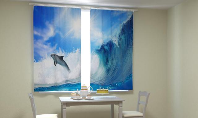Фотошторы с печатью 3d изображений: реальные фото в интерьере, рисунок 3д и, картинки на шторах в гостиную